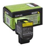 Toner Oryginalny Lexmark 802SY (80C2SY0) (Żółty)