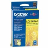 Tusz Oryginalny Brother LC-1100HY Y (LC1100HYY) (Żółty) do Brother DCP-585 CW
