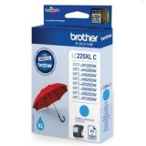 Tusz Oryginalny Brother LC-225 XL C (LC225XLC) (Błękitny) do Brother MFC-J4625 DW