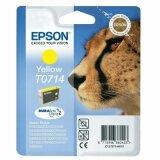 Tusz Oryginalny Epson T0714 (C13T07144010) (Żółty) do Epson Stylus SX600 FW