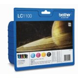 Tusze Oryginalne Brother LC-1100 CMYK (LC1100VALBP) (komplet) do Brother DCP-585 CW