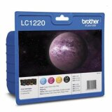 Tusze Oryginalne Brother LC-1220 CMYK (LC-1220VALBP) (komplet) do Brother DCP-J725 DW