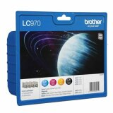 Tusze Oryginalne Brother LC-970 CMYK (LC970VALBP) (komplet) do Brother DCP-150 C
