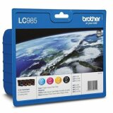 Tusze Oryginalne Brother LC-985 CMYK (LC985VALBP) (komplet) do Brother DCP-140 W