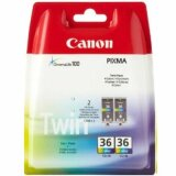 Tusze Oryginalne Canon CLI-36 (1511B018) (Kolorowe) (dwupak) do Canon PIXMA iP110 + bateria