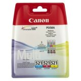 Tusze Oryginalne Canon CLI-521 CMY (2934B010) (trójpak)