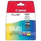 Tusze Oryginalne Canon CLI-526 CMY (4541B009) (trójpak)