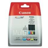 Tusze Oryginalne Canon CLI-551 CMYK (6509B008) (czteropak) do Canon Pixma MX720