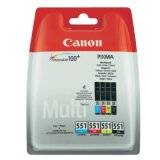 Tusze Oryginalne Canon CLI-551 CMYK (6509B008) (czteropak) do Canon Pixma MG6650 White