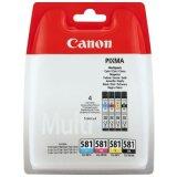 Tusze Oryginalne Canon CLI-581 CMYK (2103C004) (czteropak)