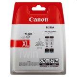 Tusze Oryginalne Canon PGI-570 XL BK (0318C007) (Czarne) (dwupak) do Canon Pixma MG7753