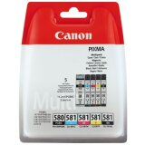 Tusze Oryginalne Canon PGI-580/CLI-581  CMYK (2078C005) (komplet)