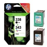 Tusze Oryginalne HP 338 + 343 (SD449EE) (komplet) do HP Officejet H470