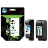 Tusze Oryginalne HP 45 + 78 (SA308A) (komplet) do HP Officejet k60