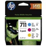 Tusze Oryginalne HP 711 CMY (P2V32A) (trójpak) do HP Designjet T120