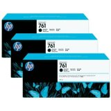 Tusze Oryginalne HP 761 (CR275A) (Czarne matowe) (trójpak)