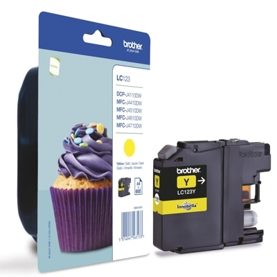Original Ink Cartridge Brother LC 123 Y LC123Y Yellow
