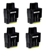 4x Tusz Zamiennik LC-900 BK (LC900BK) (Czarny) do Brother MFC-5440 CN