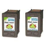 Tusze Zamienniki 21 (CC627A) (Czarny) (dwupak) do HP Deskjet D2460