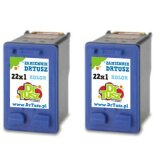 Tusze Zamienniki 22 (SD429AE) (Kolorowe) (dwupak) do HP Deskjet F394
