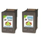 Tusze Zamienniki 27 (CC621A) (Czarny) (dwupak) do HP PSC 1310