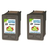 Tusze Zamienniki 27 (CC621A) (Czarne) (dwupak) do HP Deskjet 3845