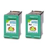 Tusze Zamienniki 343 (CB332EE) (Kolorowy) (dwupak) do HP Photosmart 325 V