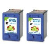 Tusze Zamienniki 57 (C9334A) (Kolorowe) (dwupak) do HP Photosmart 7350 V