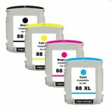 Tusze Zamienniki 88 XL CMYK (komplet) do HP Officejet Pro K550 DTN