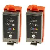 Tusze Zamienniki CLI-36 (1511B018) (Kolorowe) (dwupak) do Canon PIXMA iP110 + bateria